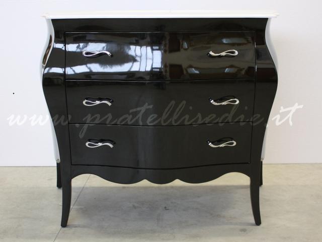 12 cromate mobile bagno barocco nero lucido con maniglie art