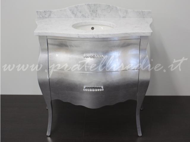 mobili da bagno foglia argento  pasionwe, Disegni interni