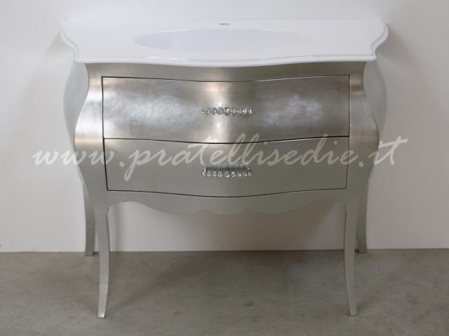 Bagno barocco bombato 2 cassetti con mineralmarmo pratelli mobili - Mobili stile barocco moderno ...