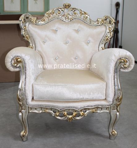 Poltrona barocco pratelli mobili for Mobili stile barocco moderno