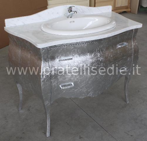 Mobile bagno barocco bombato 2 cassetti pratelli mobili - Mobile bagno barocco ...