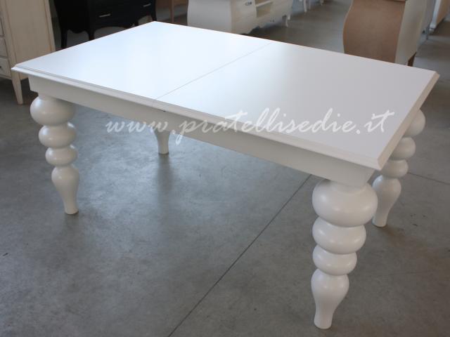 Tavolo barocco moderno gambe tornite pratelli mobili - Mobili barocco moderno ...