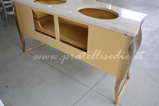 Mobile bagno barocco bombato doppio lavabo pratelli mobili - Lavandino bagno angolare ...