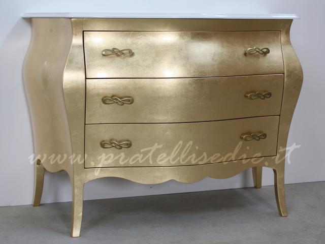 Bagno barocco bombato grande con mineralmarmo pratelli mobili - Mobili da bagno stile barocco ...