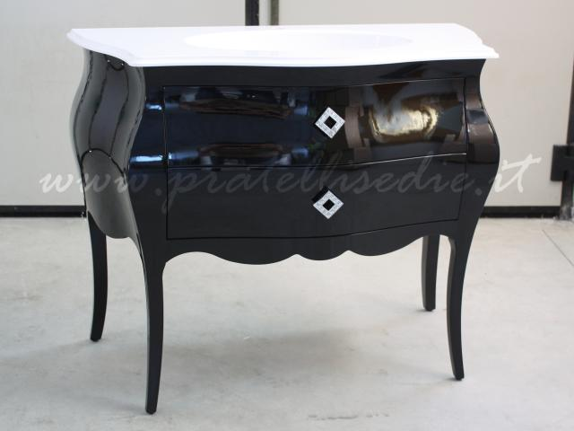 Bagno barocco bombato 2 cassetti con mineralmarmo pratelli mobili - Mobili da bagno stile barocco ...