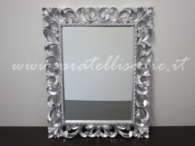 Specchiera barocca pratelli mobili for Specchio argento moderno