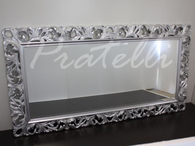 Specchiera barocca cornice grande pratelli mobili - Specchio cornice nera barocca ...